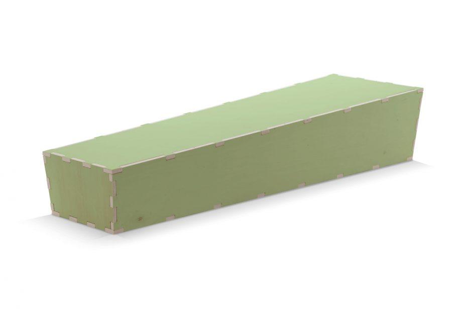 Uitvaartkist doodskist doe het zelf groen Beerenberg