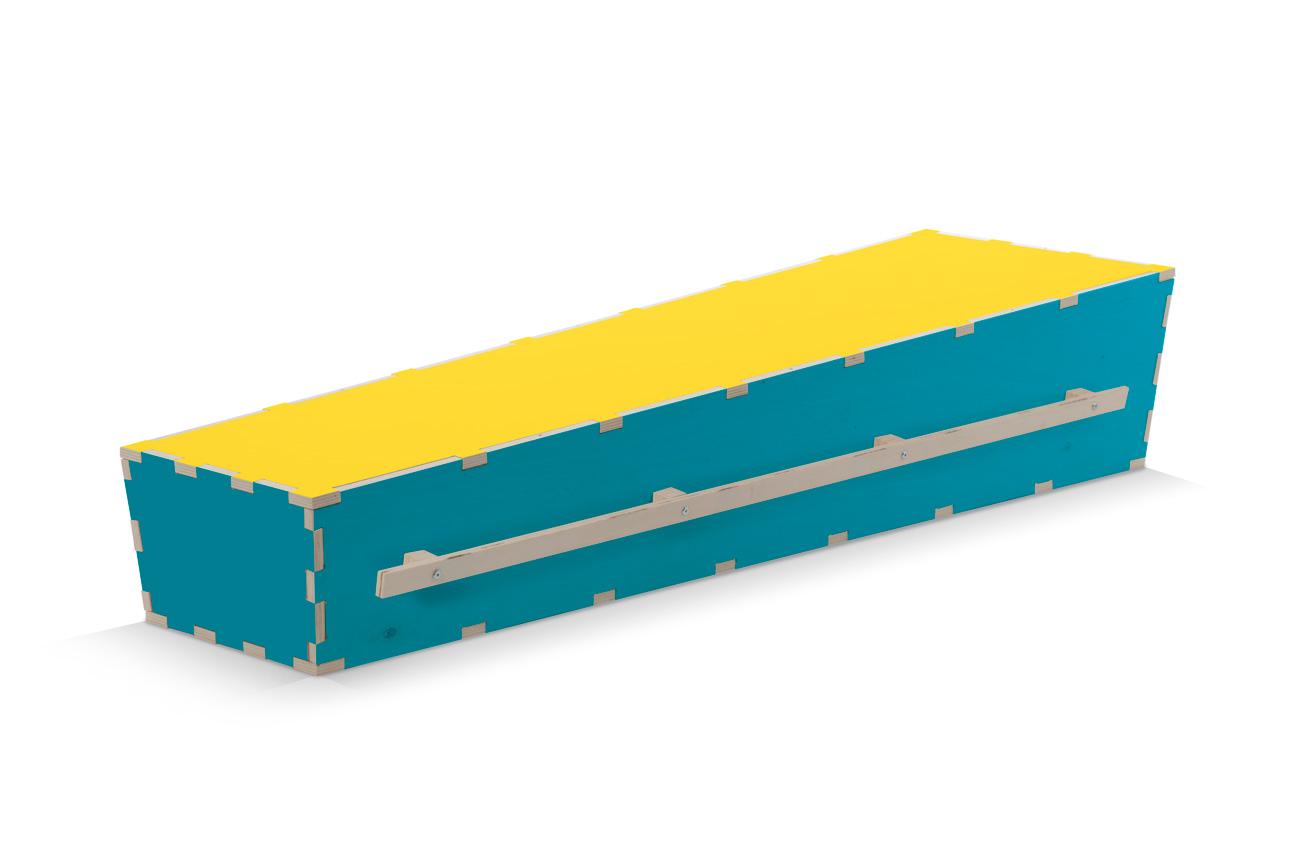 Uitvaartkist-kleuren-blauwe-met-gele-deksel-Beerenberg-draaglatten
