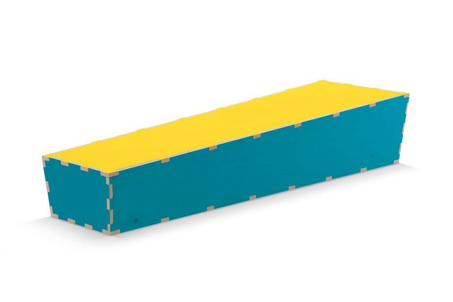 Uitvaartkist doodskist kleuren blauwe met gele deksel Beerenberg