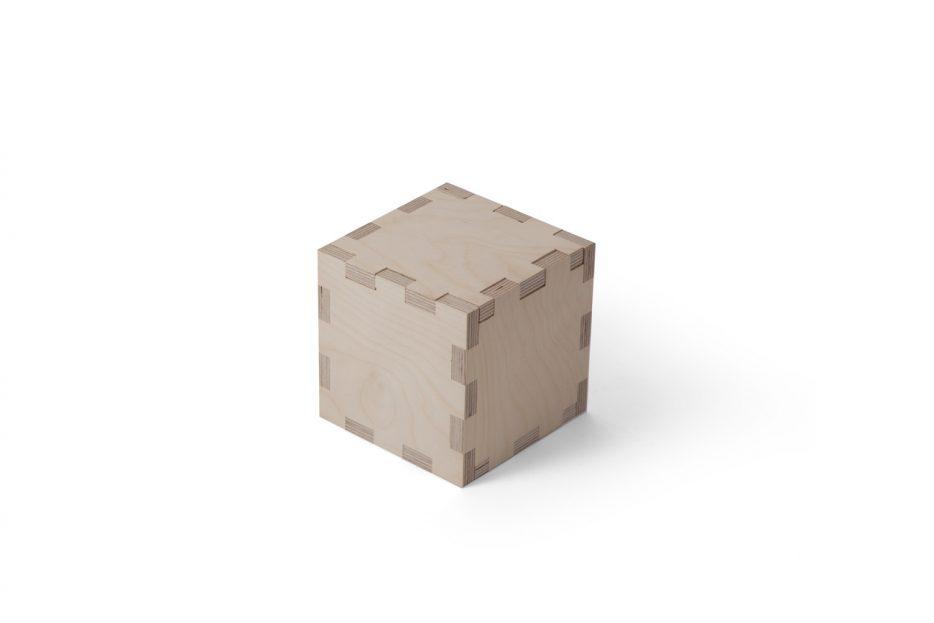 Urn kubus hout beerenberg stap 1