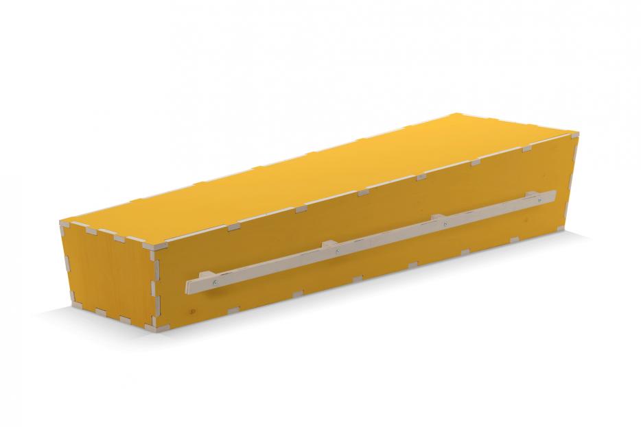 Uitvaartkist geel draaglatten Beerenberg